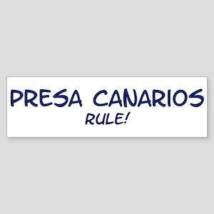 Presa Canarios Rule Bumper Sticker
