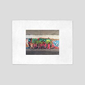 Tunnel Graffiti 5'x7'Area Rug