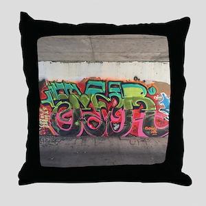 Tunnel Graffiti Throw Pillow