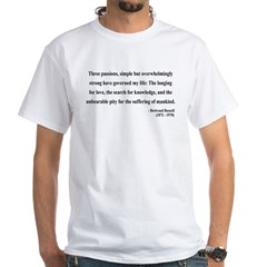 Bertrand Russell 7 White T-Shirt