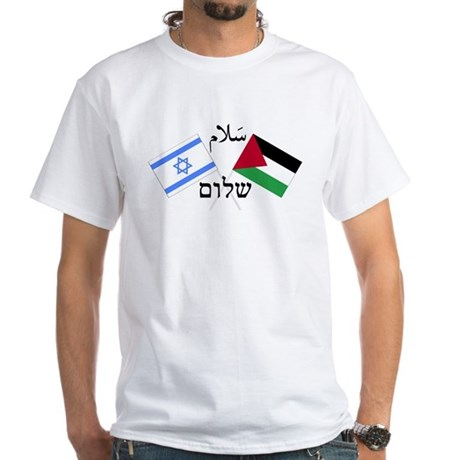 Israel and Palestine Peace White T-Shirt