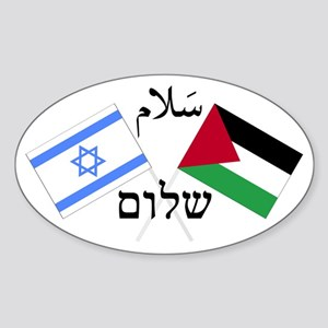 Israel and Palestine Peace Oval Sticker