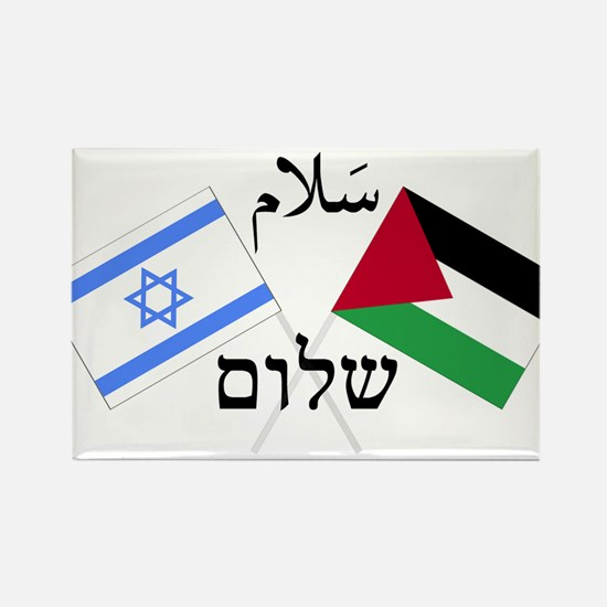 Israel and Palestine Peace Rectangle Magnet