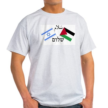 Israel and Palestine Peace Light T-Shirt