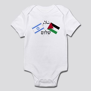 Israel and Palestine Peace Infant Bodysuit
