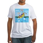 Whitewater Rafting Fitted T-Shirt