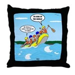Whitewater Rafting Throw Pillow