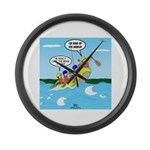 Whitewater Rafting Large Wall Clock