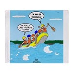 Whitewater Rafting Throw Blanket