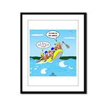 Whitewater Rafting Framed Panel Print