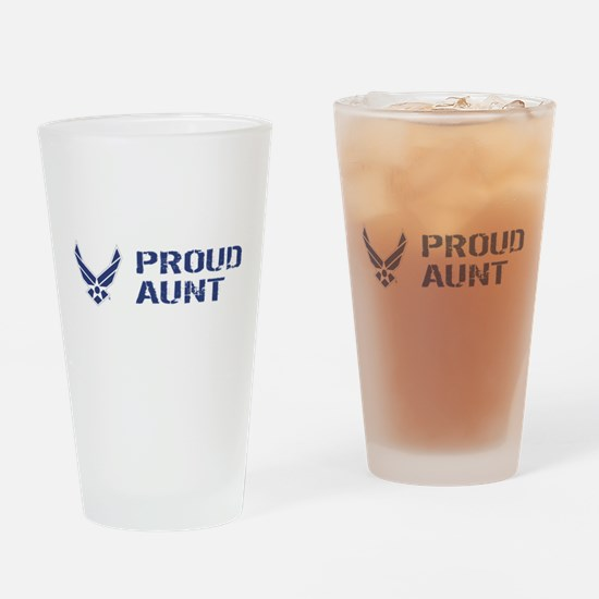 USAF: Proud Aunt Drinking Glass