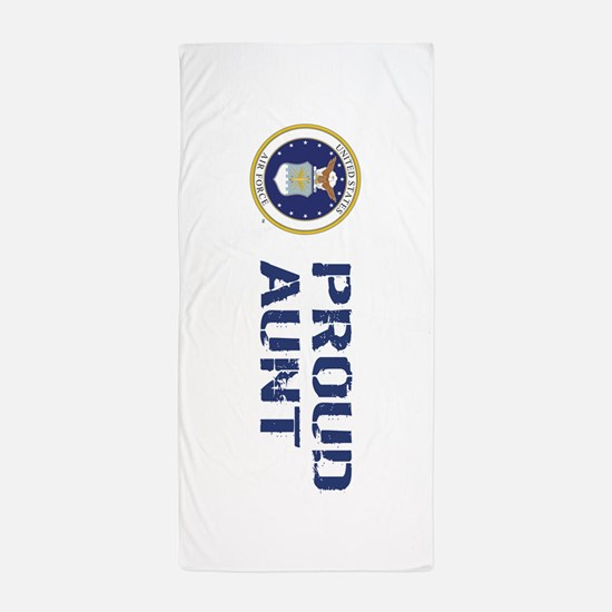 USAF: Proud Aunt Beach Towel