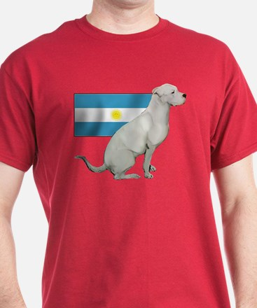 Dogo with Flag T-Shirt
