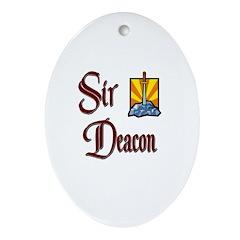 Sir Deacon Oval Ornament