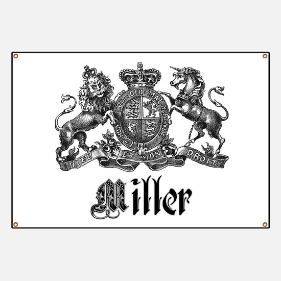 Miller Vintage Crest Family Name Banner