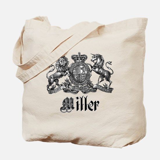 Miller Vintage Crest Family Name Tote Bag