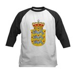 Denmark Coat Of Arms Kids Baseball Jersey