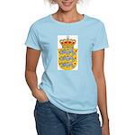Denmark Coat Of Arms Women's Pink T-Shirt
