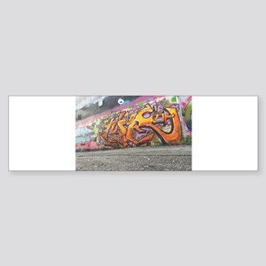 Orange graffiti Bumper Sticker