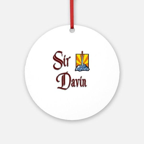 Sir Davin Ornament (Round)