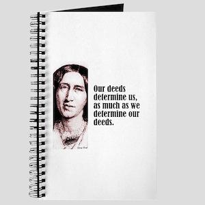 """Eliot """"Deeds Determine"""" Journal"""