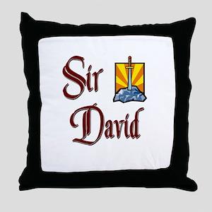 Sir David Throw Pillow