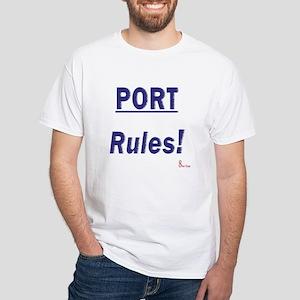Port Rules White T-Shirt