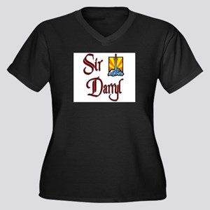 Sir Darryl Women's Plus Size V-Neck Dark T-Shirt