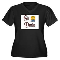 Sir Darrius Women's Plus Size V-Neck Dark T-Shirt