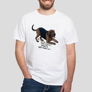 happy bloodhound White T-Shirt