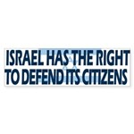 Israel in Gaza Bumper Sticker