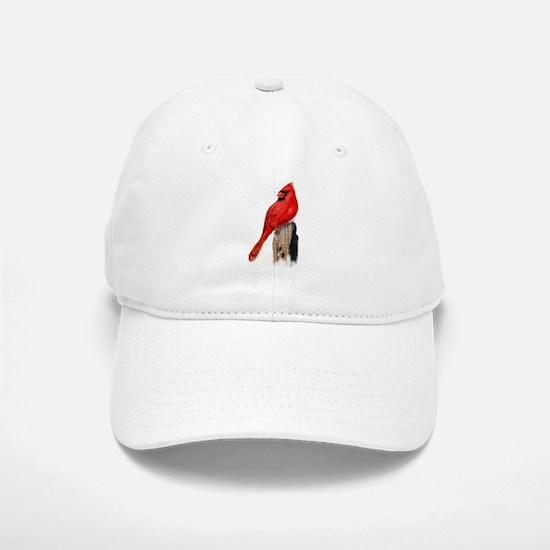 Cardinal on Post Baseball Baseball Cap