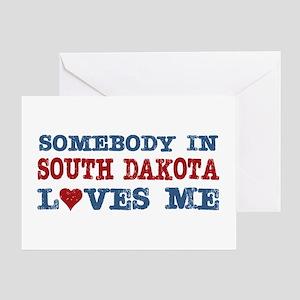 Somebody in South Dakota Loves Me Greeting Card