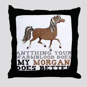 Morgan Horse Throw Pillow