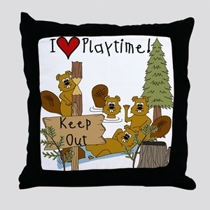 I Love Playtime Throw Pillow