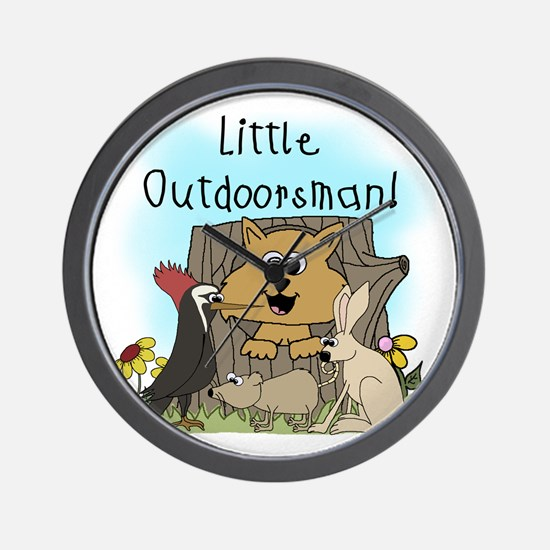 Little Outdoorsman Wall Clock