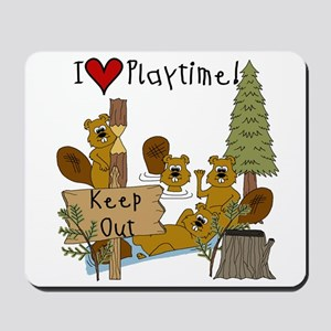 I Love Playtime Mousepad