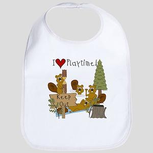 I Love Playtime Bib