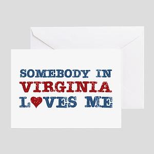 Somebody in Virginia Loves Me Greeting Card