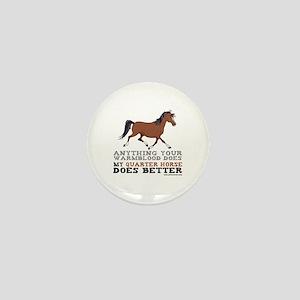 Quarter Horse Mini Button