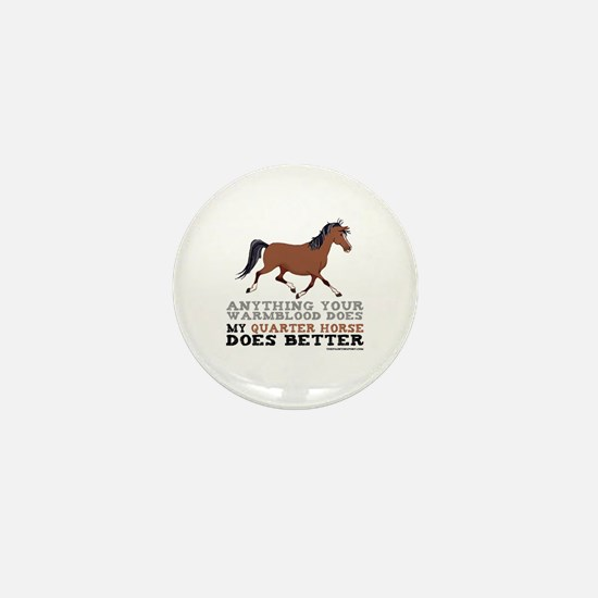 Quarter Horse Mini Button
