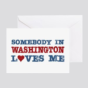 Somebody in Washington Loves Me Greeting Card