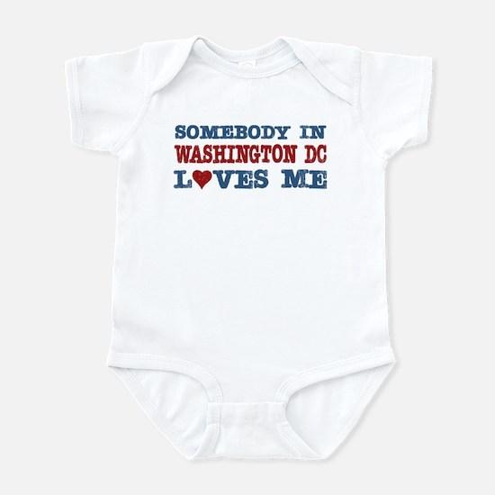 Washington dc baby clothes cafepress somebody in washington dc loves me infant bodysuit negle Gallery