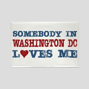 Somebody in Washington DC Loves Me Rectangle Magne