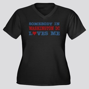 Somebody in Washington DC Loves Me Women's Plus Si