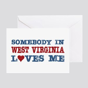 Somebody in West Virginia Loves Me Greeting Card