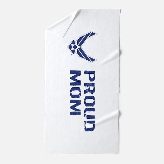 USAF: Proud Mom Beach Towel