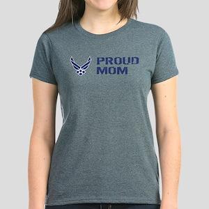 USAF: Proud Mom Women's Dark T-Shirt