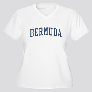 Bermuda Blue Women's Plus Size V-Neck T-Shirt
