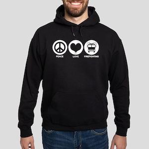 Peace Love Firefighting Hoodie (dark)